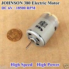New JOHNSON 380 Electric Motor DC 6V 18500RPM High Speed High Power Carbon Brush