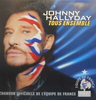 JOHNNY HALLYDAY : TOUS ENSEMBLE - [ CD SINGLE PROMO ]