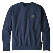 Patagonia para Hombre Parche Sudadera De Cuello Redondo Clásico Azul Marino Jersey uprisal S-XX grande