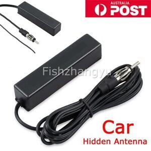 NEW AM/FM Car Hidden Amplified Antenna 12V Stereo Radio Kit Electronic Universal