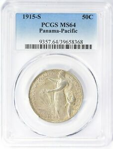 1915-S PCGS MS64 Panama Pacific Expo Half Dollar Commemorative Commem PPIE