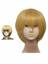 New Attack on Titan Armin Arlert Short Warm Hair Cosplay Party Wigs+ hairnet