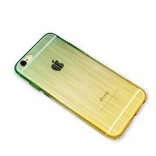 Funda Silicona Transparente Iphone 6 6s gradiente verde amarilla