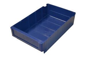 Regalbox Lagerbox Box Dunkelblau 400X188X80mm Arca Systems stapelbar Lager Regal