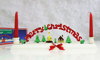 NEW Merry Christmas Around The World TAPER CANDLE HOLDER Candles Table Decor NIB