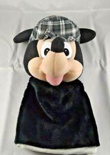 "Mickey Mouse Hand Puppet 11"" Tartan Detective Sherlock Cap Hat Disney Store"