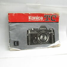 Used Konica Autoreflex TC Camera Guide Booklet/Manual Printed in Japan S211111