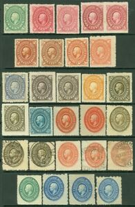 EDW1949SELL : MEXICO 1885 Very nice collection of Sc #165-73 VF, Mint Cat