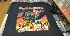 IRON MAIDEN 2012 MAIDEN ENGLAND - NORTH AMERICA TOUR T - RARE   (SIZE LARGE)