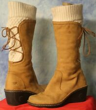 UGG Skylair Tan Suede Tall Wedge Boots - Women's Size 8.5