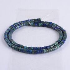 "0864 6mm Lapis chrysocolla heishi loose gemstone beads 15.5"""