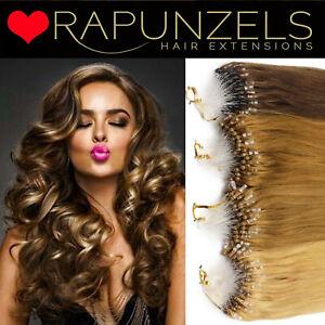 MICRO LOOP Pre Looped hair extensions Easy loop micro ring REMY HUMAN HAIR