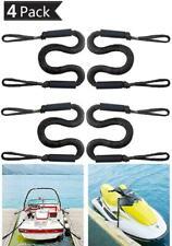 4x Bungee Boat Dock Line Mooring Rope Boat Accessories For Kayak Jet Ski Canoe