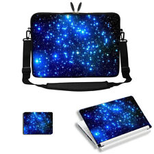 "17"" 17.3"" Laptop Sleeve Bag Case w Shoulder Strap & Matching Skin Mouse Pad 3015"