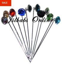 10  Crystal Diamante  Hijab Scarf Brooch Pins