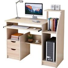 More details for 100cm computer desk wooden table laptop study drawer bookshelf keyboard cupboard