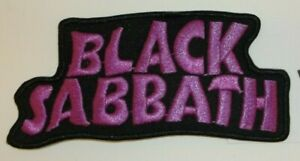 """Black Sabbath Patch~Embroidered~Iron or Sew on~4 3/8"""" x 2""""~FREE US Mail"""