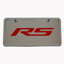 2010 - 2015 Chevrolet Camaro RS License Plate Vanity Tag & Frame Made in USA