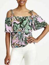 NEW J Crew PRINTED TIE Cold-Shoulder Top FERN Smokey Lilac Shirt Style J1065  12