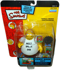 The Simpsons Comic Book Guy Action Figure WOS MOC Series 14 RARE Toy Playmates!