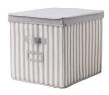 IKEA Svira Storage Box 33x39x33, Lid, Grey/White Stripe, BNWT