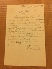 Lettera autografa di Francesco Crispi