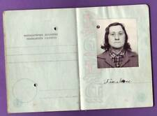 RUSSIA LATVIA VINTAGE PASSPORT BOOK WITH PHOTO 126