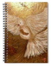 """""""Bringer of Peace"""" Spiral Notebook. 6"""" x 8"""". Lined 120 Pages. Custom Artwork."""