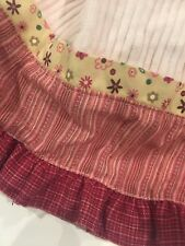 Baby Martex Blossoms Pink Corduroy Baby Girl Crib Toddler Bed Skirt EUC