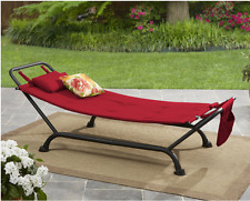 Hammock with Stand Red Green Blue Garden Outdoor Portable Patio Swing Furniture