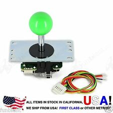 Sanwa Original Japan Arcade Joystick JLF-TP-8YT with Green Ball Top stick mod