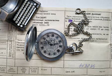 Rare Collectible POCKET USSR WATCH MOLNIJA NOS 50 Years WW2 Victory SERVICED