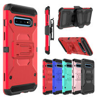 For Samsung Galaxy S10/S10 Plus Case Hybrid Belt Clip Stand Holster Hard Cover