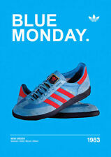 A3/A4 - Blue Monday 1983 ADIDAS CASUALS CLASSIC TRAINERS Avertisements Posters