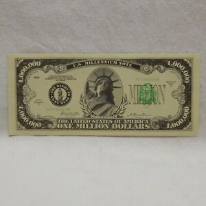 $1,000,000 STATUE OF LIBERTY BANKNOTE NOVELTY BANK NOTE