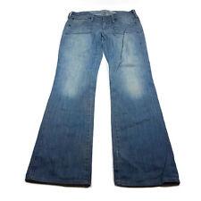 Wrangler Super Blue Bella Womens Jeans Size 29 W 32 L Blue Distressed Denim