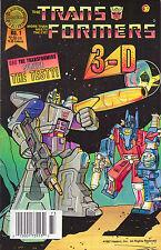 Transformers 3D #1 - Optimus Prime & Megatron Cover - 1987 (Grade 7.0) WH