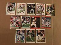 Cleveland Browns Cards 12 Card Lot Kosar Jackson Metcalf Matthews Mack Burnett