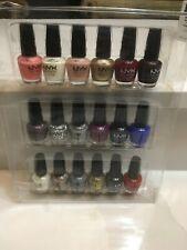 New Lot 18 NYX Girls Nail Polish Set Mini Bottles Rare Colors/Shades