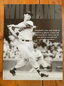 DESPERATE ENTERPRISES (Item #1507) Ted Williams Baseball Quote Tin Metal Sign
