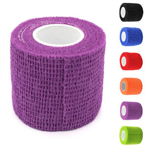 1/5Pack Elastic Self-adhesive Bandage Tube Tattoo Grip Cover Wrap Tape 4.5M