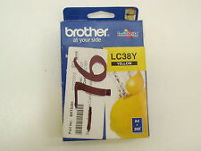 BROTHER LC38Y YELLOW INK CARTRIDGE FOR DCP-145C NEW
