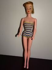 VINTAGE BARBIE CLONE DOLL BOBBLE HEAD STRIPED SWIMSUIT 11""