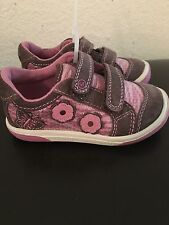 NWOB Stride Ride Girl's RYDER PINK & Brown Shoes Size 6M Eu 22