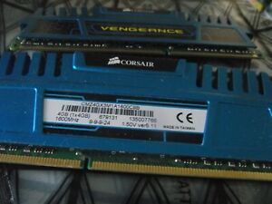 Corsair Vengeance RAM 2 x 4 GB 1600MHz 9-9-9-24