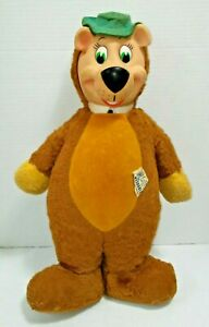 "Vtg 1959 Knickerbocker Rubber Face Huckleberry Hound Yogi Bear Plush Doll 18"""