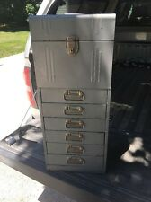 """Vintage Industrial """"ACORN"""" COMBINATION METAL FILE BOX  CABINET Jewelry Box"""