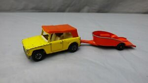 Vintage 1969 Matchbox Superfast No 18 And 38 Field Car Honda Trailer Toys Bundle