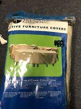 "New listing Treasure Garden 60"" Round or Hexagon Patio Set Cover No Umbrella Hole Cp590"