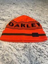 Oakley Men's Orange and Green Striped Knit Hat NWOT